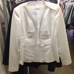 <b>Altuzarra</b> white blazer, $569