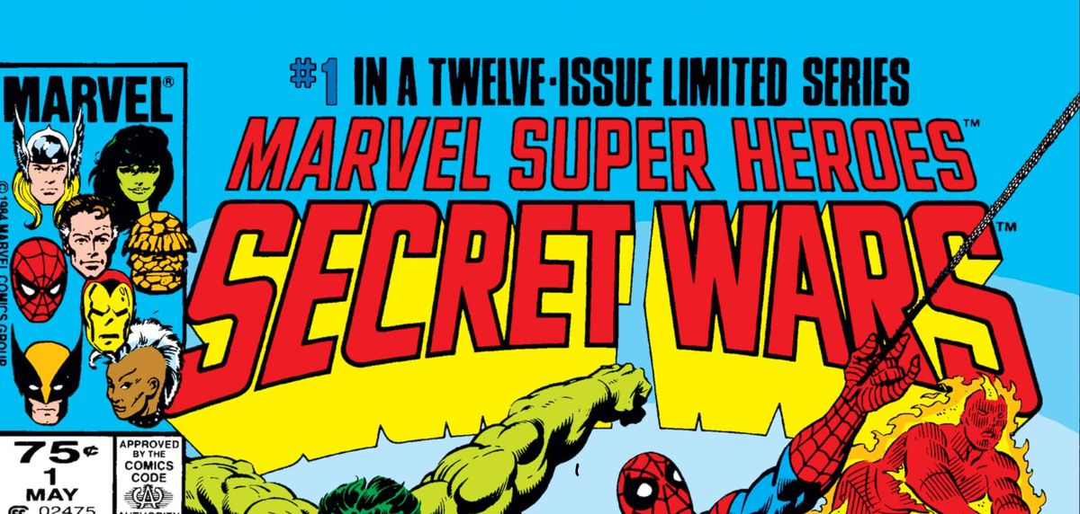 From the cover of Secret Wars #1, Marvel Comics (1984).