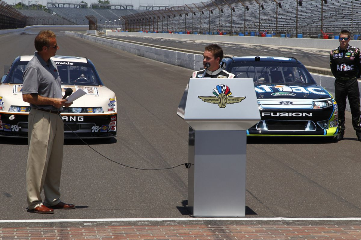 NASCAR Nationwide Series driver Ricky Stenhouse Jr. was on hand to talk about the 2012 'Super Weekend' at Indianapolis Motor Speedway. (Photo: Ron McQueeney/Indianapolis Motor Speedway)