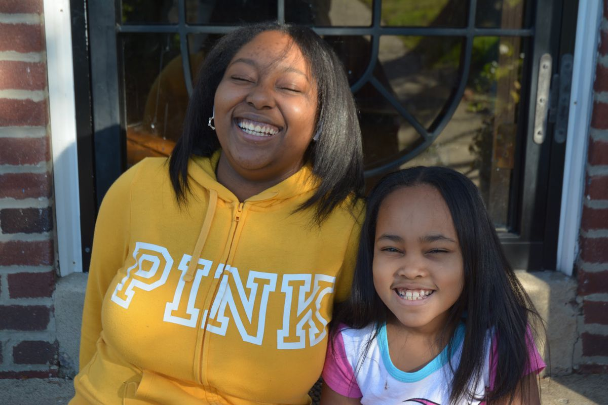 Ramirrah Reid, left, and her younger sister Samya Demercado.