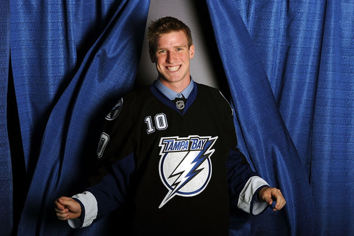 TA-DA! As fast as Brock Beukeboom appeared from behind this curtain he has since disappeared, reassigned to his junior team by the Blues.