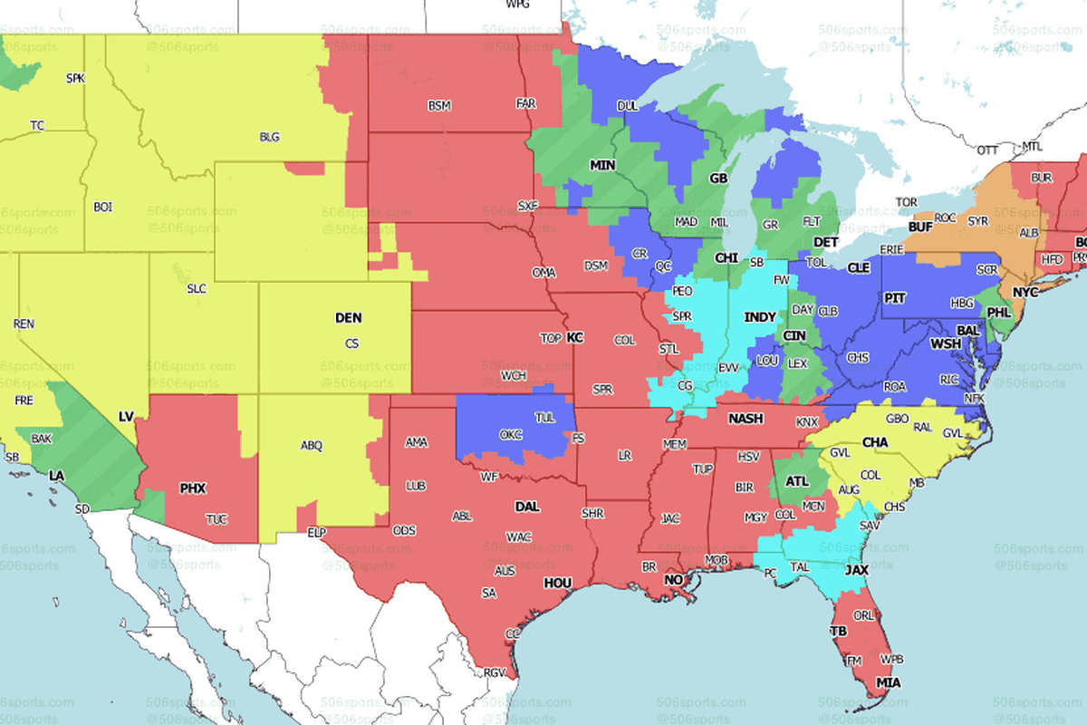 Nfl Week 1 National Tv Maps Will The Ravens Game Be On Your Tv On Sunday Baltimore Beatdown