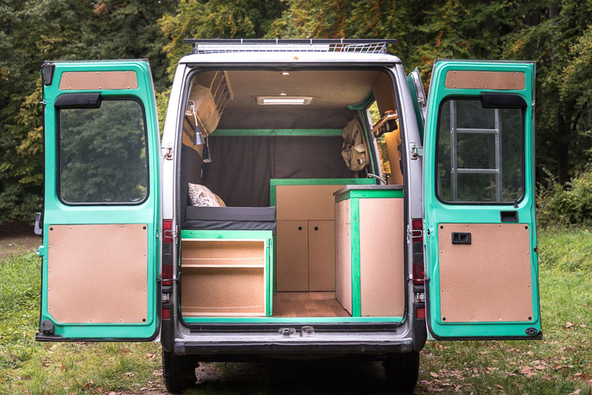 Inside An Old Van Turned Tiny Mobile Home