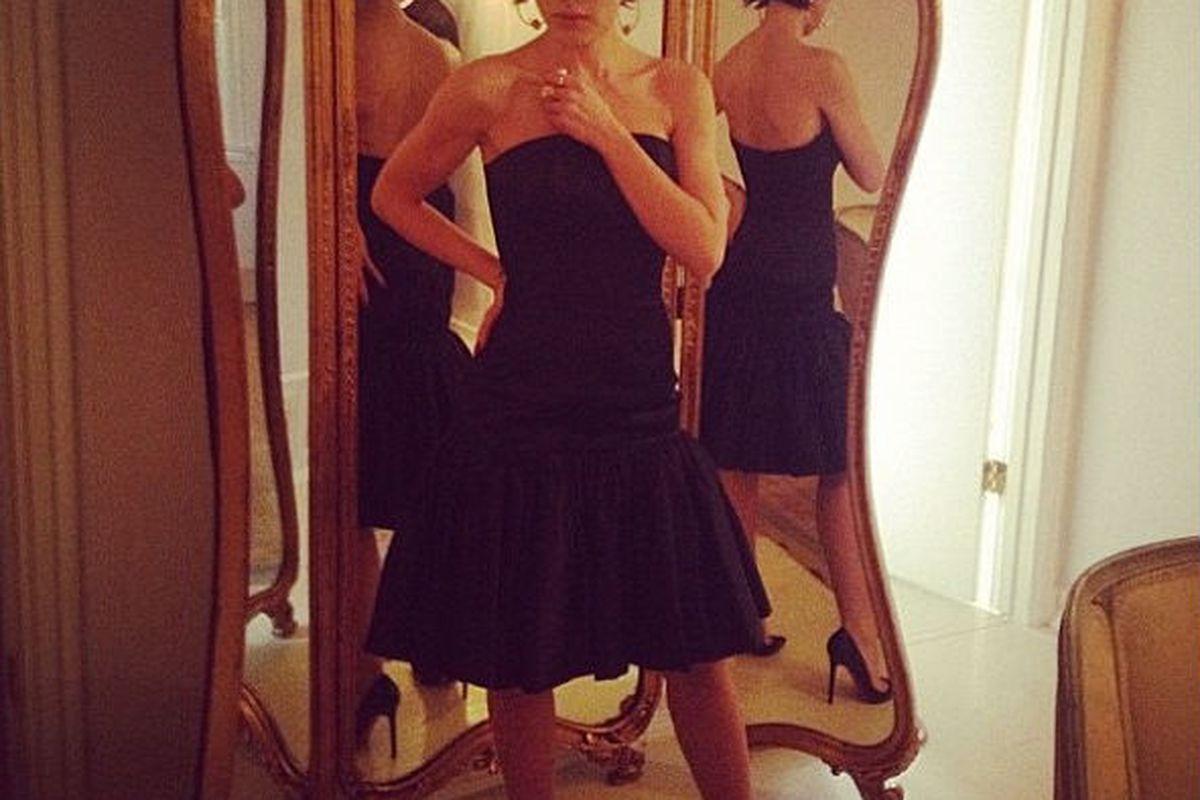 "Style blogger and Shareen regular Karla Deras in a soon-to-debut Shareen Original. Image via Shareen/<a href=""https://www.facebook.com/photo.php?fbid=547577131919472&amp;set=pb.446182838725569.-2207520000.1359759054&amp;type=3&amp;src=https%3A%2F%2F"