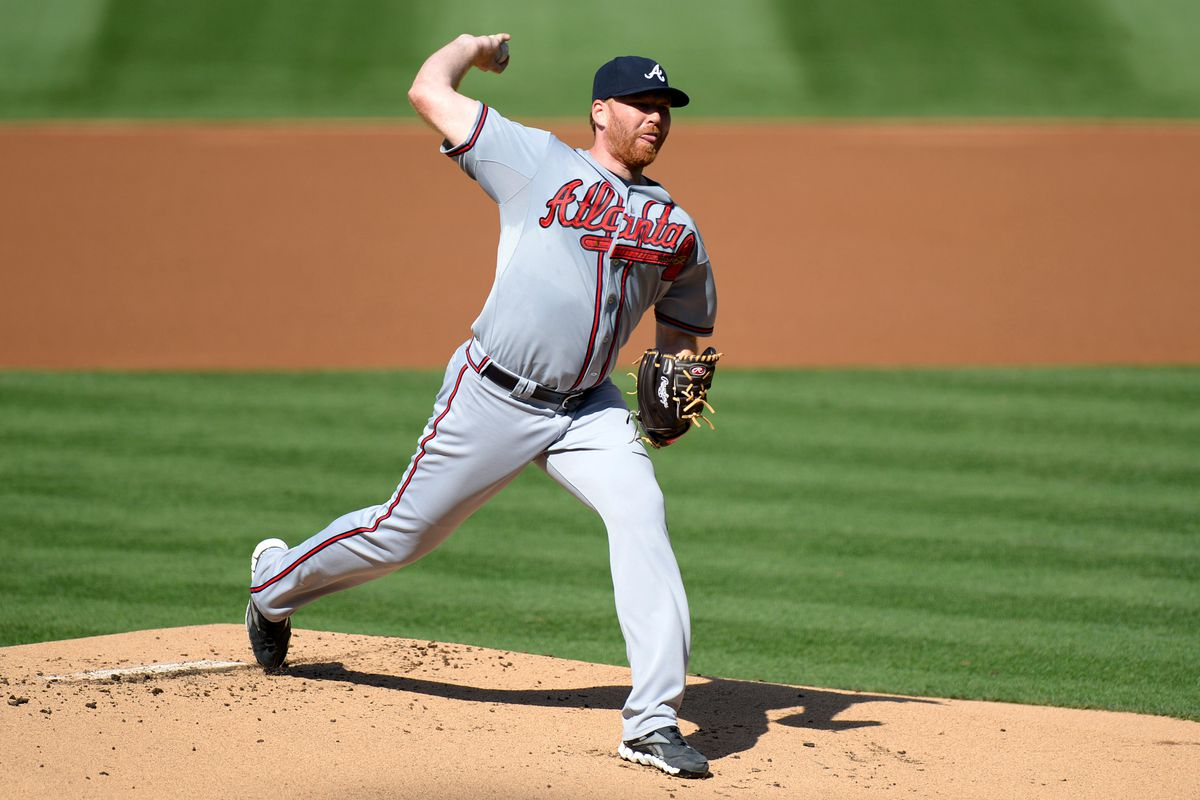 Aug 29, 2012; San Diego, CA, USA; Atlanta Braves starting pitcher Tommy Hanson (48) pitches during the first inning against the San Diego Padres at Petco Park. Mandatory Credit: Jake Roth-US PRESSWIRE