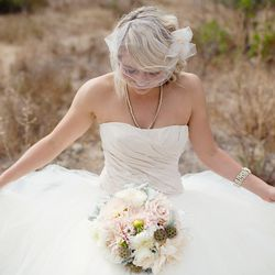 """Make an appointment at <a href=""""http://encorebridal.com/"""">Encore Bridal's</a> showroom to peruse consignment racks full of designer wedding dresses: 391 Sutter St. #205 San Francisco, CA 94108. Photo by <a href=""""http://madisondyer.com"""">Madison Dyer</a>"""