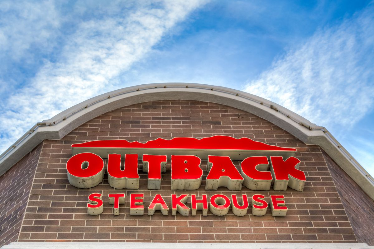 A picture of the sign at an Outback Steakhouse