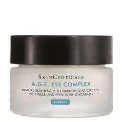 """S""""kinceuticals Eye Cream is an all-in-one product that addresses signs of aging, dehydration, and puffiness. The light and silky product works well under concealer. It's suitable for all skin types."""" The product can be used twice a day."""
