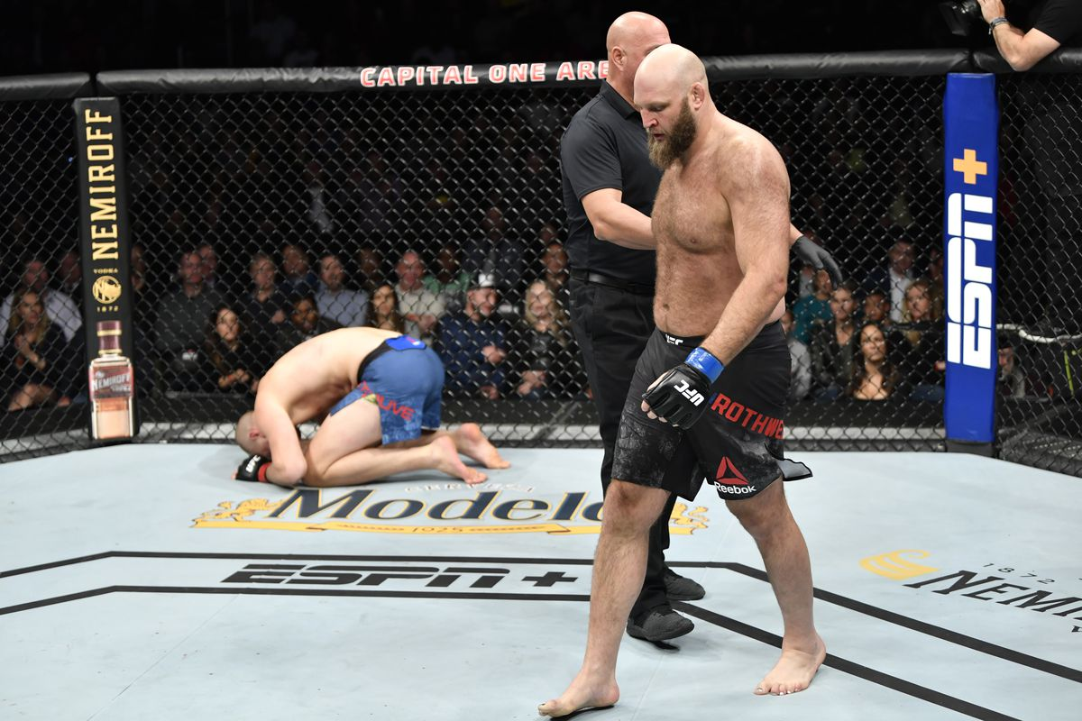 UFC on ESPN 7 results: Ben Rothwell illegally kicks Stefan Struve low twice, wins by knockout
