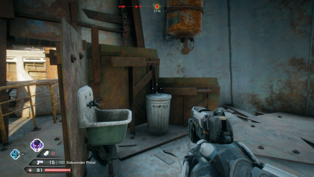 The sink in a bathroom in Rage 2