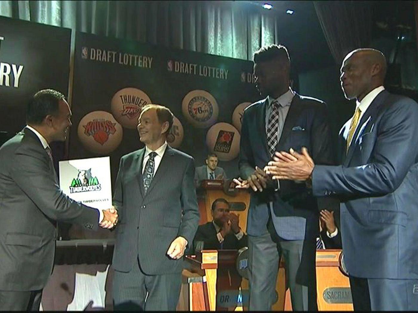Timberwolves win 2015 NBA Draft Lottery ...