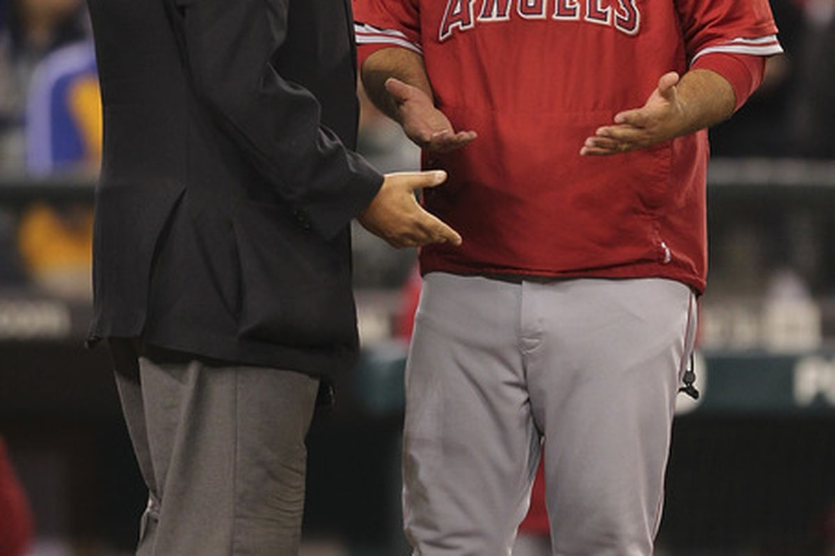 At this point in the game the Angels were winning 12-2