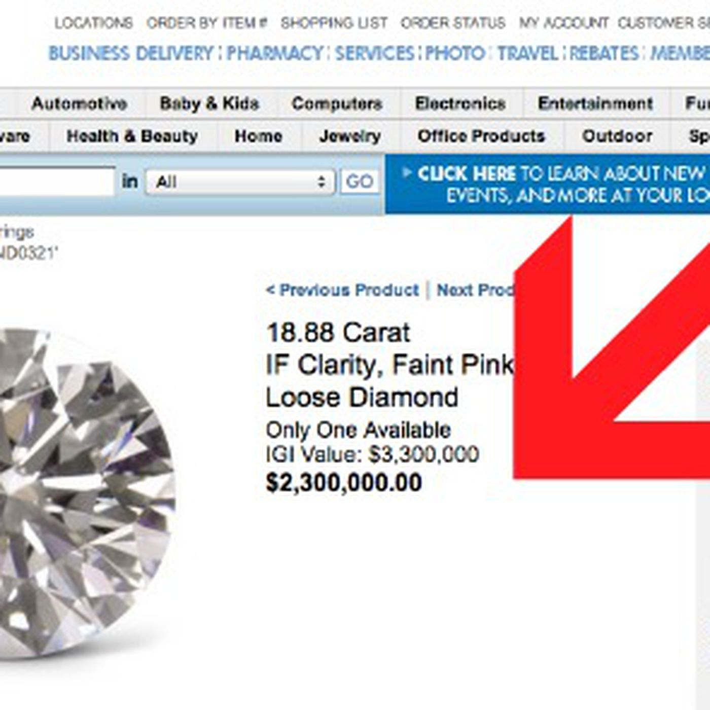 Costco Still Selling Really Expensive Diamonds, Here's One