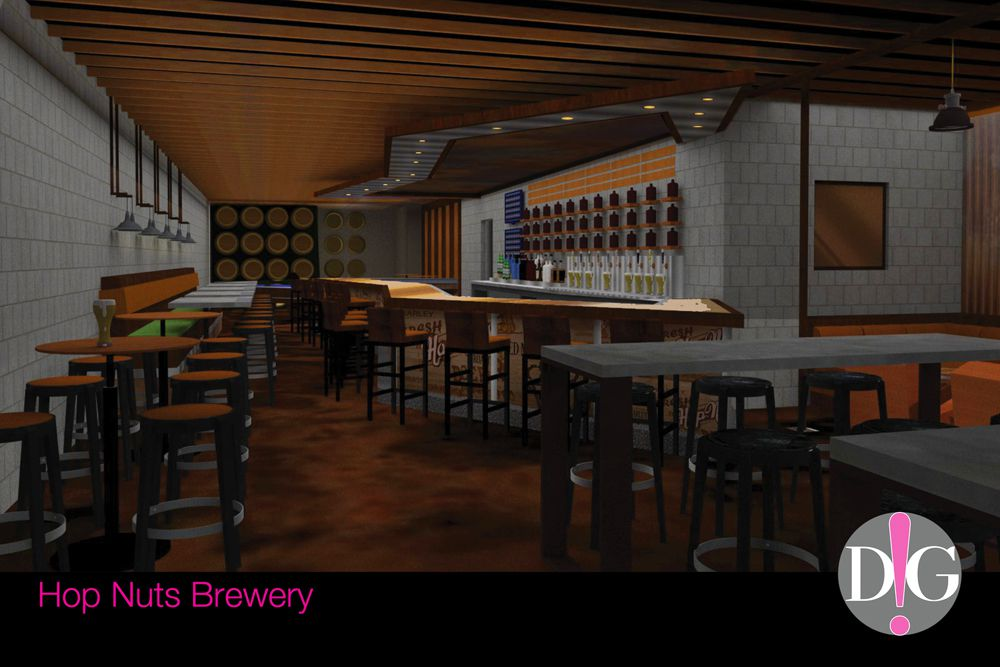 Hop Nuts Brewing rendering by D.i.G Design Group