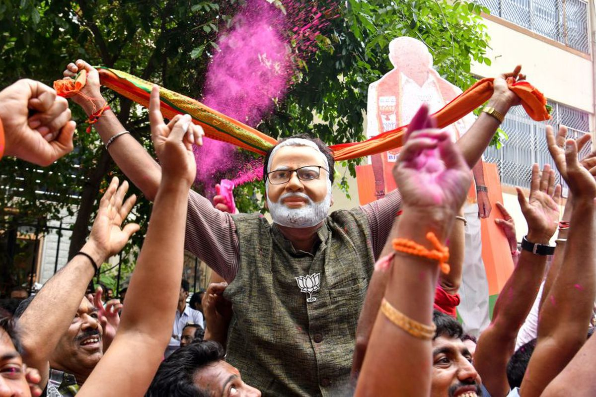 Indian PM Narendra Modi and the BJP just swept India's