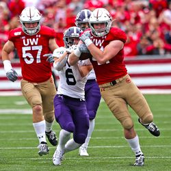 Noah Burks broke three tackles during his 68 yard touchdown return off his interception. The 4th quarter play was crucial to UW's victory.