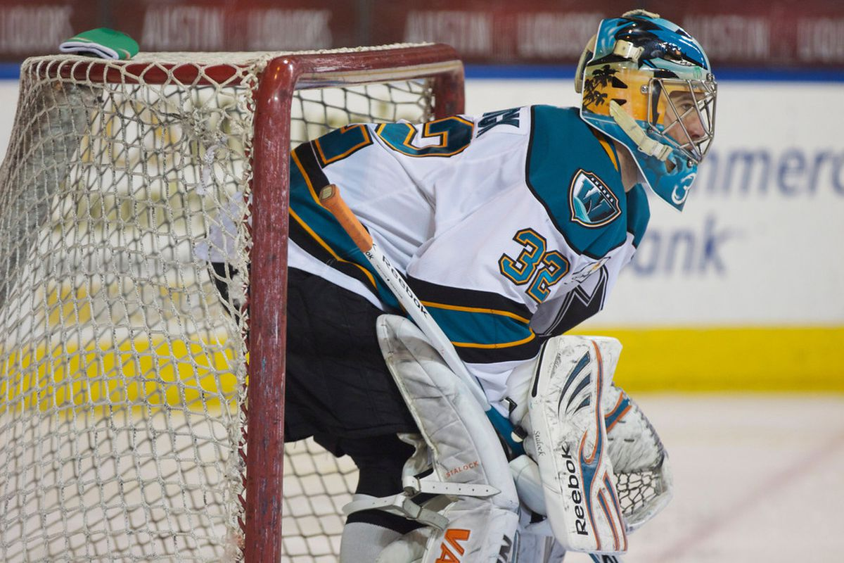 Worcester Sharks goaltender Alex Stalock stopped 73-of-75 shots in his back-to-back starts this weekend for a .973 save percentage and tied Thomas Greiss for the franchise record in career wins with 74.