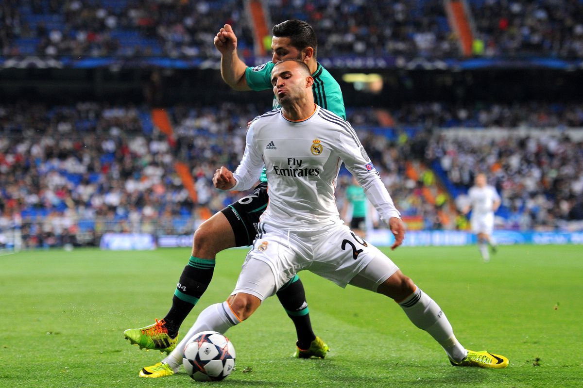This is the moment when Jesé was injured