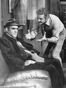 """Abe Vigoda and Hal Linden on """"Barney Miller"""" in 1977.   ABC"""