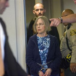 A somber Wanda Barzee enters Judge Judith Atherton's courtroom Friday for her sentencing. She was sentenced to 15 years in federal prison and one to 15 years in state prison.
