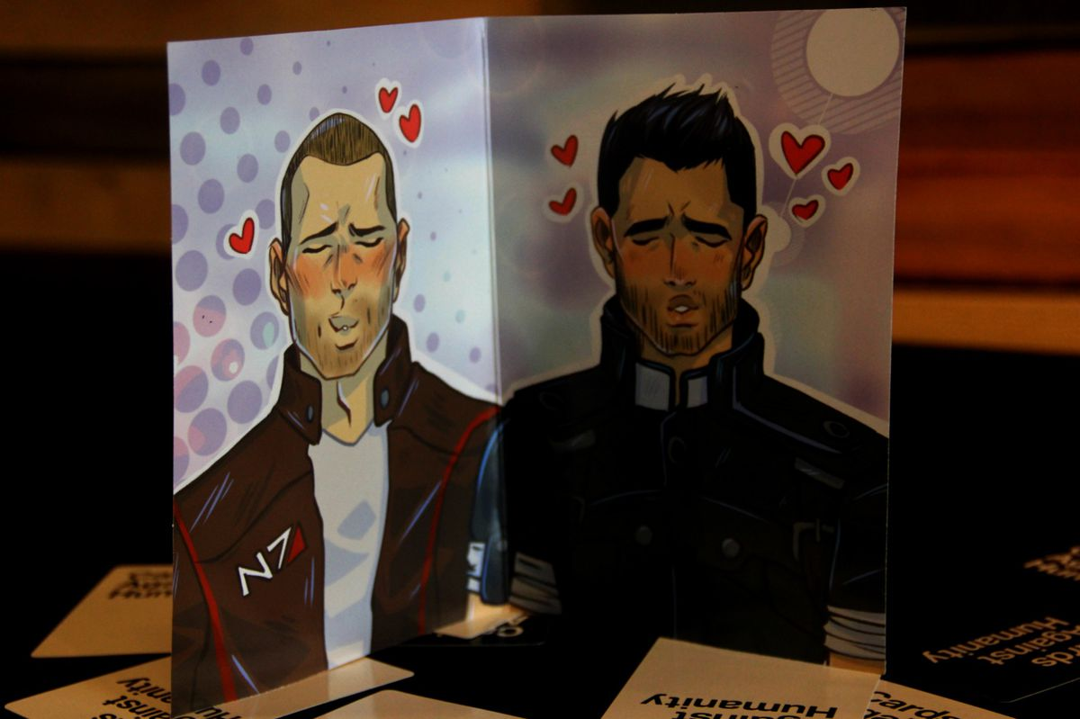 Cards Against Humanity Mass Effect Pack inside cover artwork