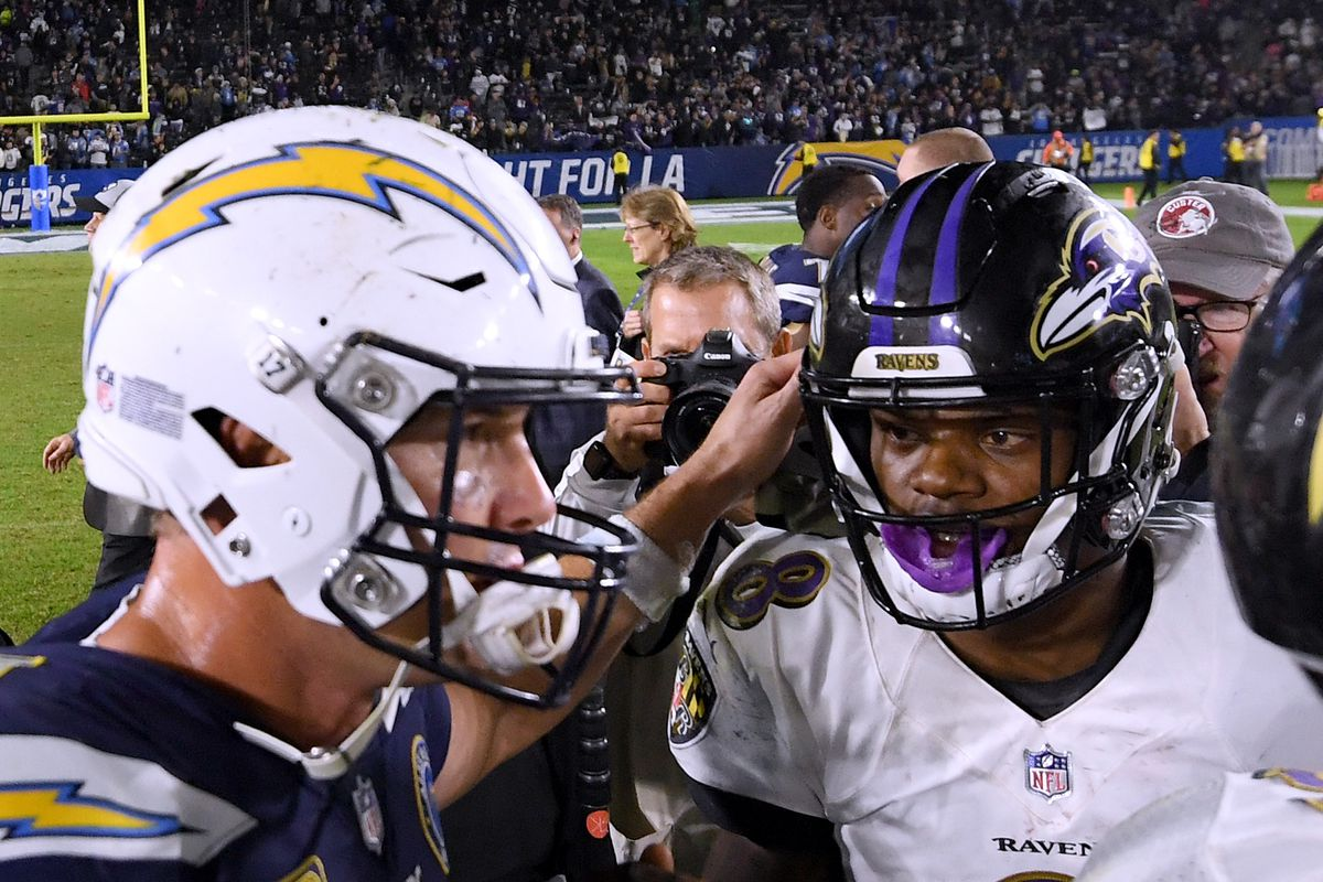 official photos 9afc7 155be Baltimore Ravens v Los Angeles Chargers