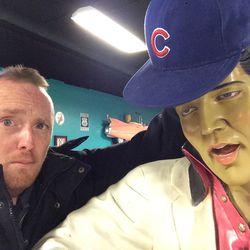 Elvis is a Cubs fan!