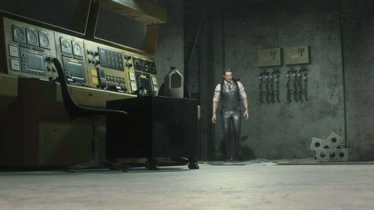 RE2 remake Leon 2nd Sewers Monitor Room
