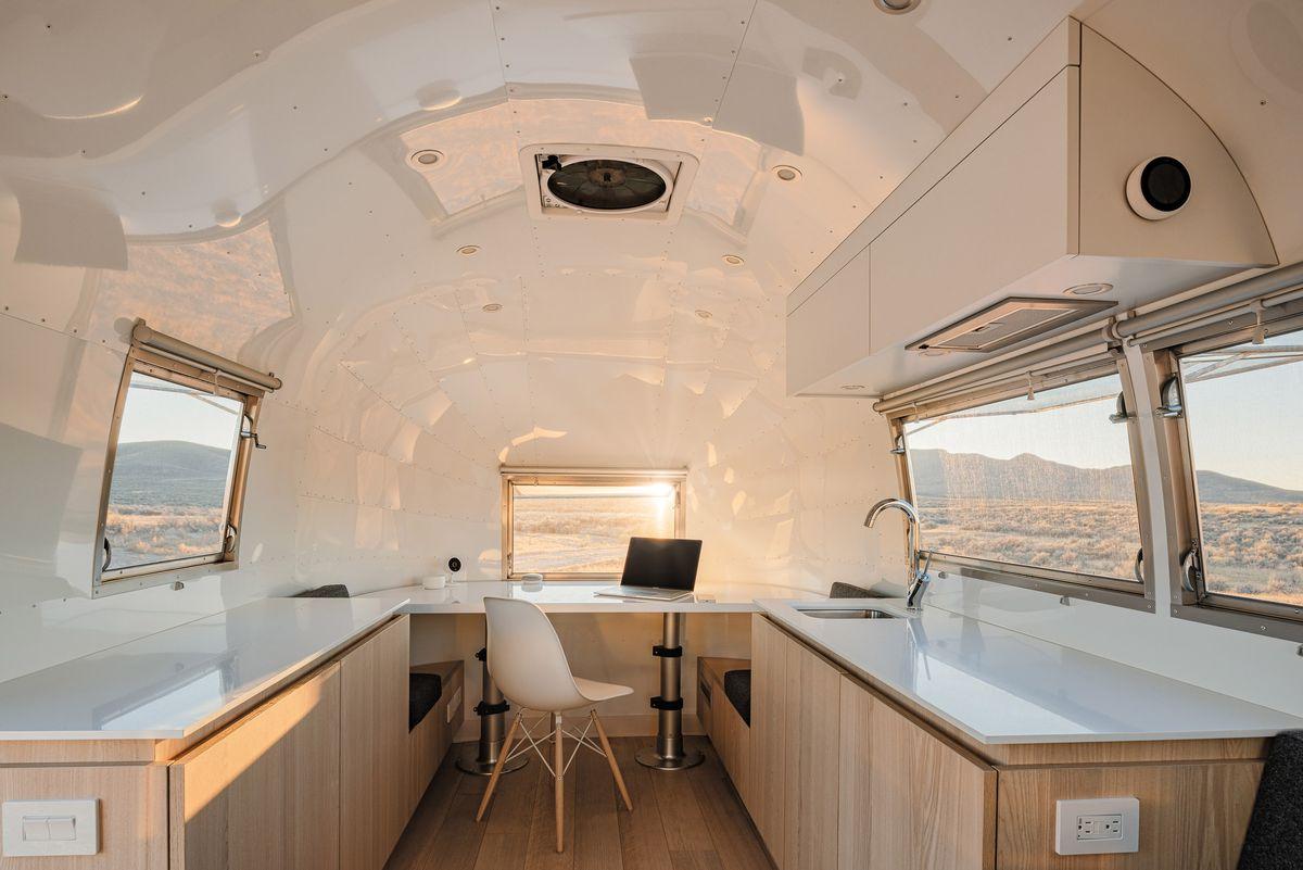 Interior of modern Airstream