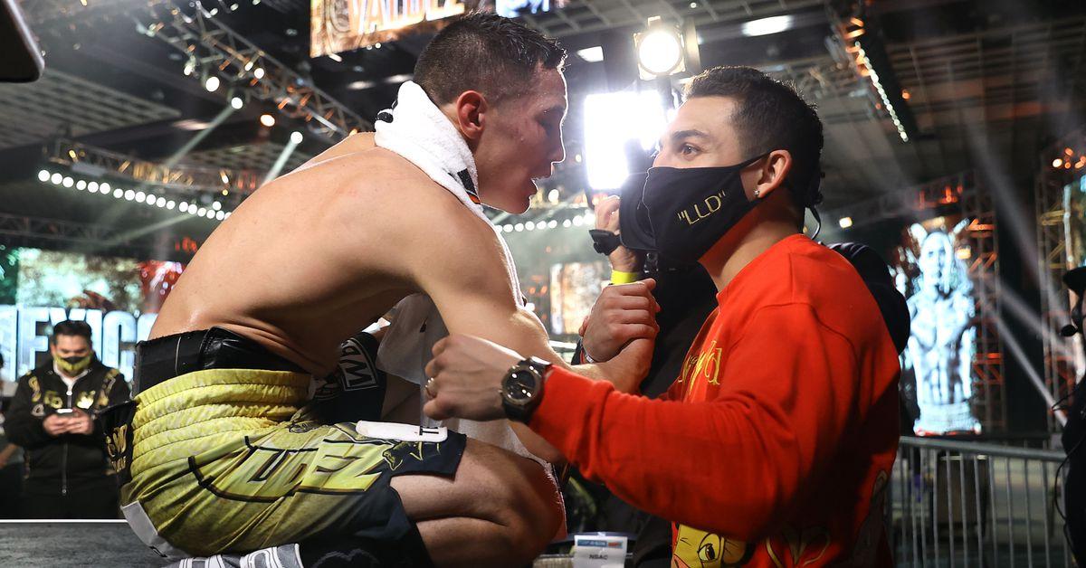 Berchelt-Valdez knockout: Watch Teofimo Lopez react to KO of the Year - Bad Left Hook