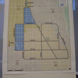 Zone parking map of Wrigley Field area