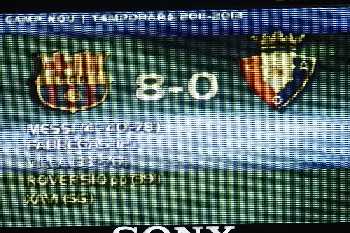 Something tells me this score will not be repeated on Wednesday