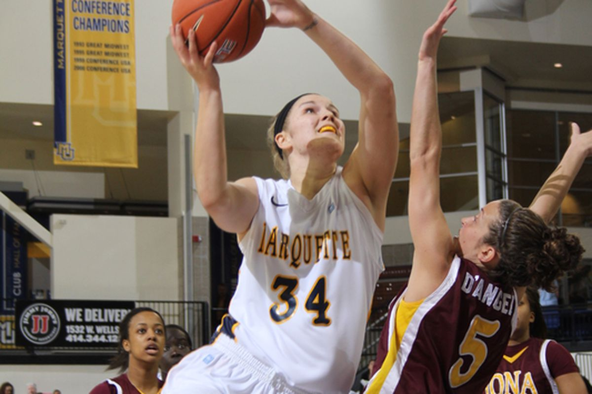 Chelsie Butler was a terror for Marquette in just 10 minutes against DePaul.