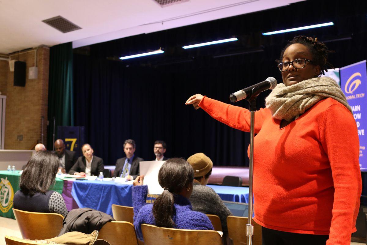 Kayla Hamilton, a former Global Tech teacher, criticized the merger.