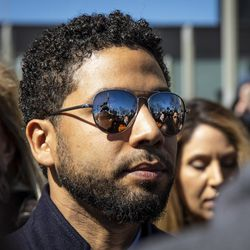 Jussie Smollett leaves court last month after charges were dropped.   Ashlee Rezin/Sun-Times