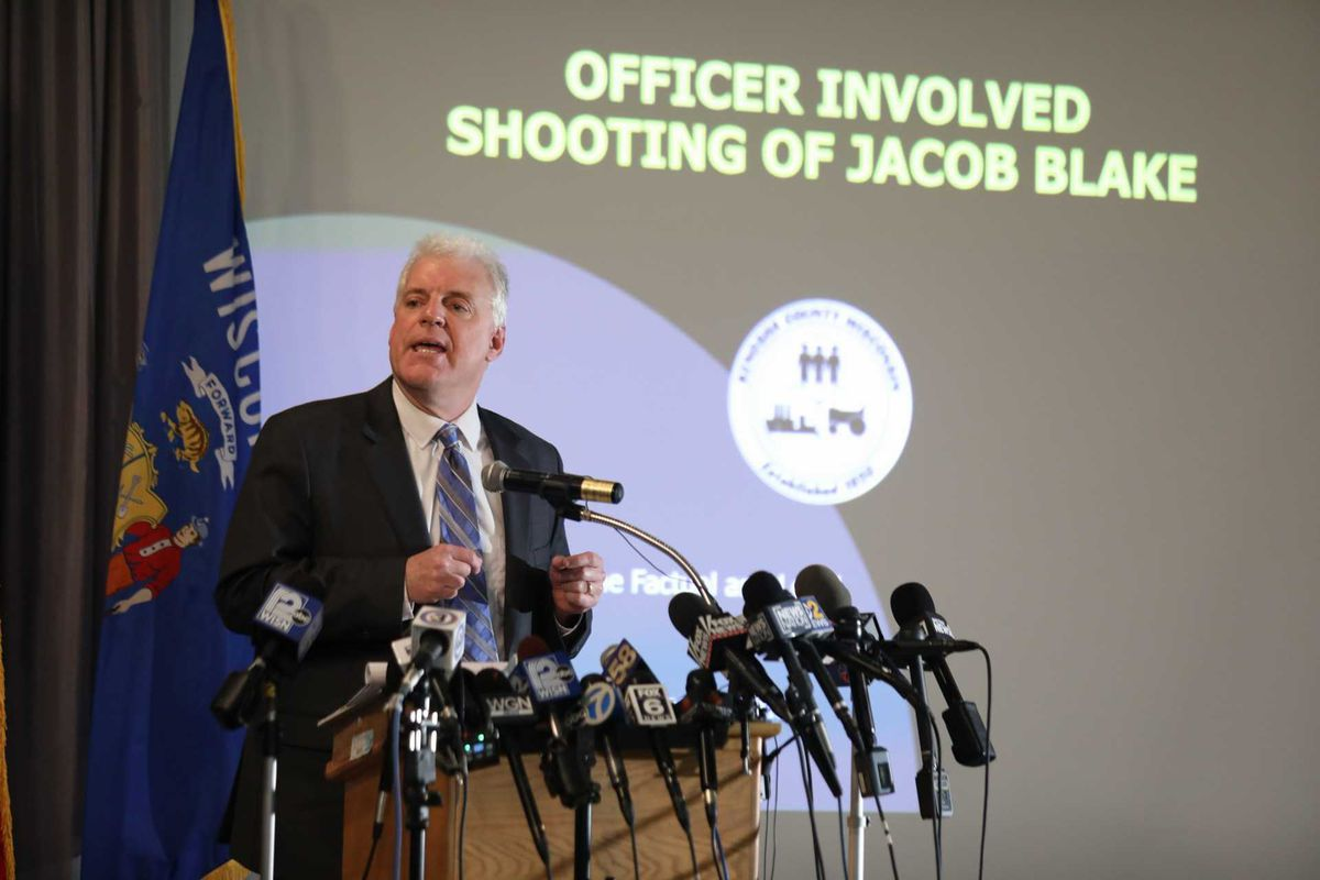 Kenosha County (Wisc.) District Attorney Michael Graveley held a news conference Tuesday to announce no charges would be filed in the shooting of Jacob Blake, who was shot seven times in the back by a Kenosha police officer last year.
