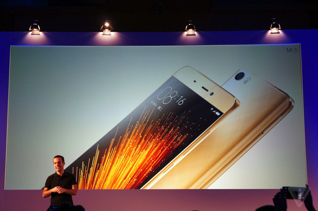 Hugo Barra at the Xiaomi Mi 5 launch at MWC 2016