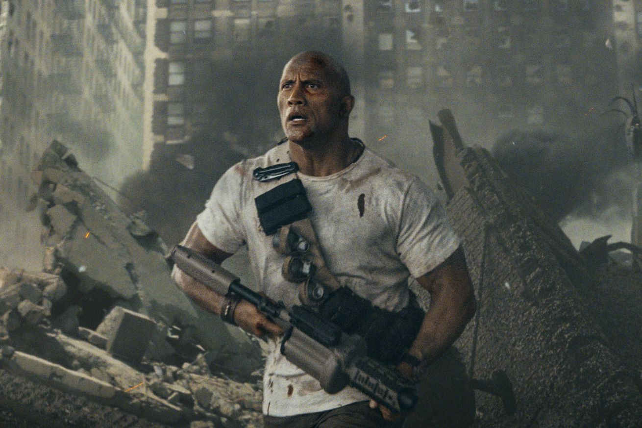 rampage is laughably dumb but at least there s plenty of rampaging