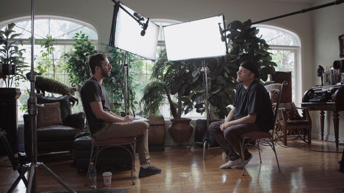 Ben Berman and Amazing Johnathan in The Amazing Johnathan Documentary.