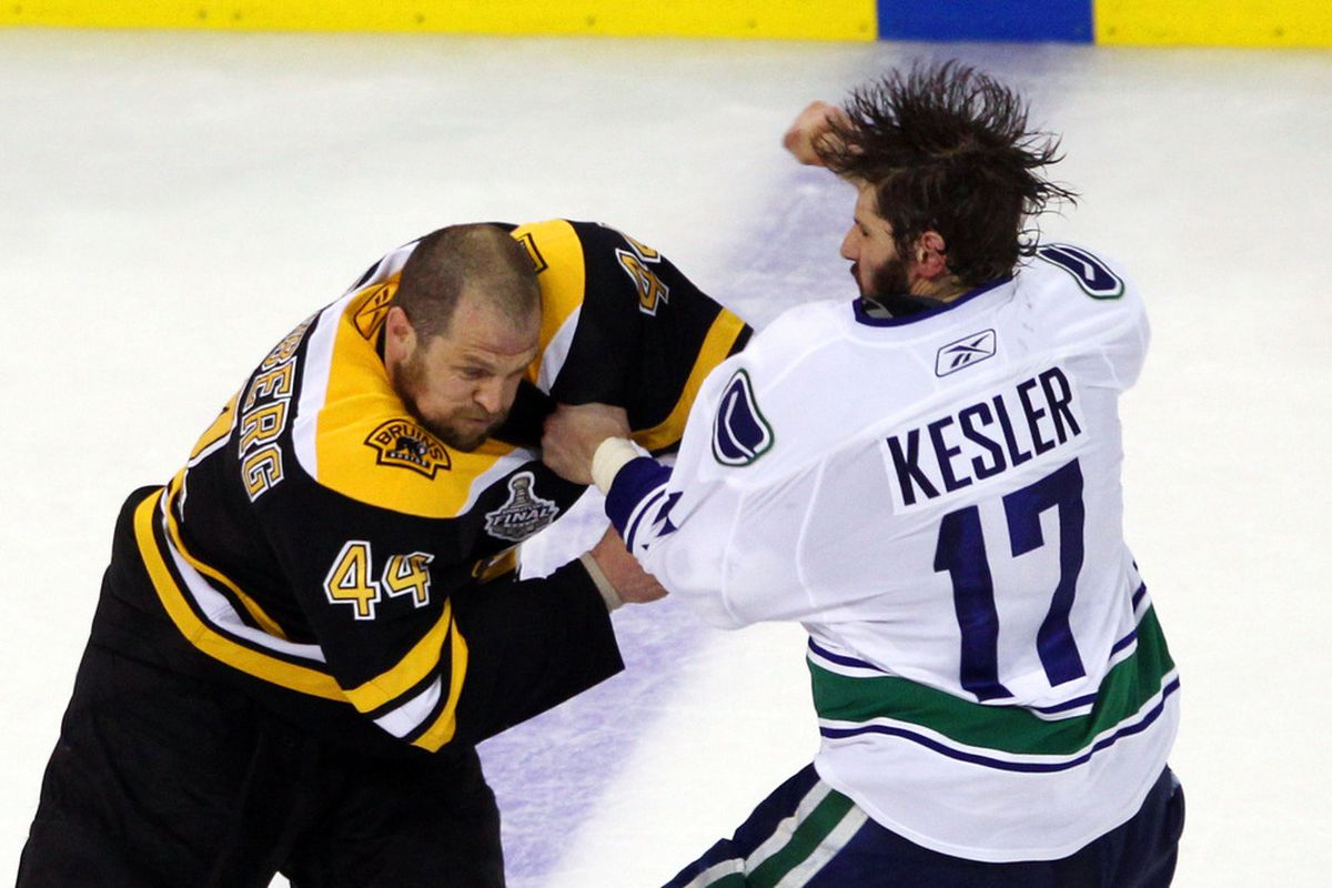 Mohawk-mode engaged. (Photo by Bruce Bennett/Getty Images)