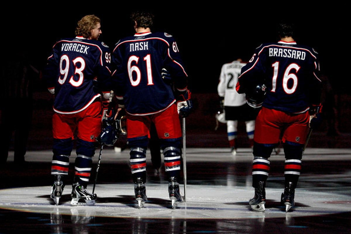 Can Rick Nash, Derick Brassard, and Jake Voracek do it on their own? (Photo by John Grieshop/Getty Images)