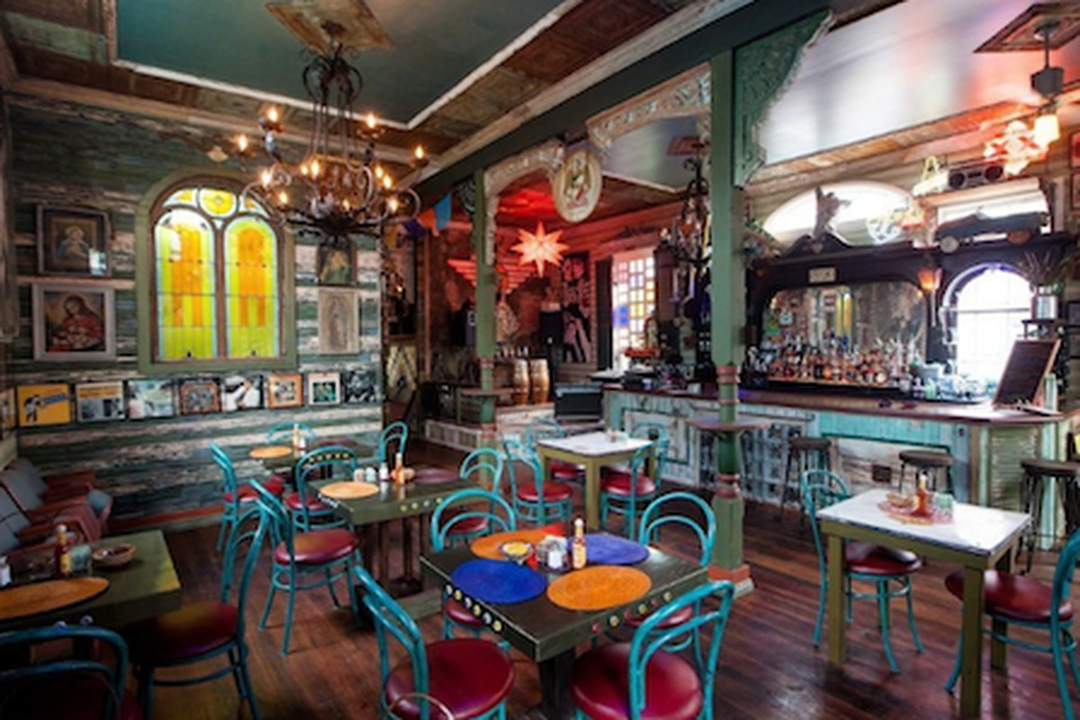 Inside Casa Borrega.