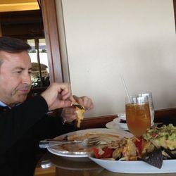 Daniel Boulud enjoys nachos with George Mendes...