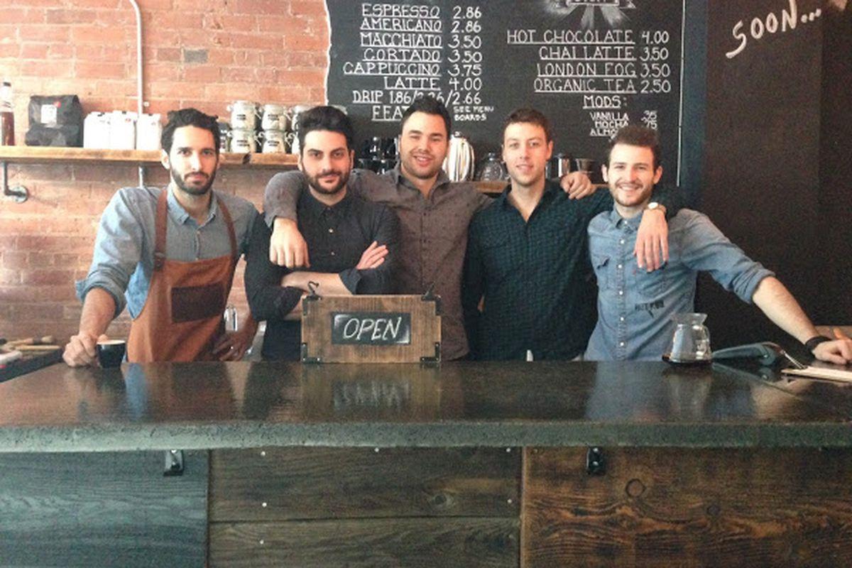 From left to right: owners Alex Castellani, Chris Ioannou, Joe Papik and John Baker; employee Grant Gamble