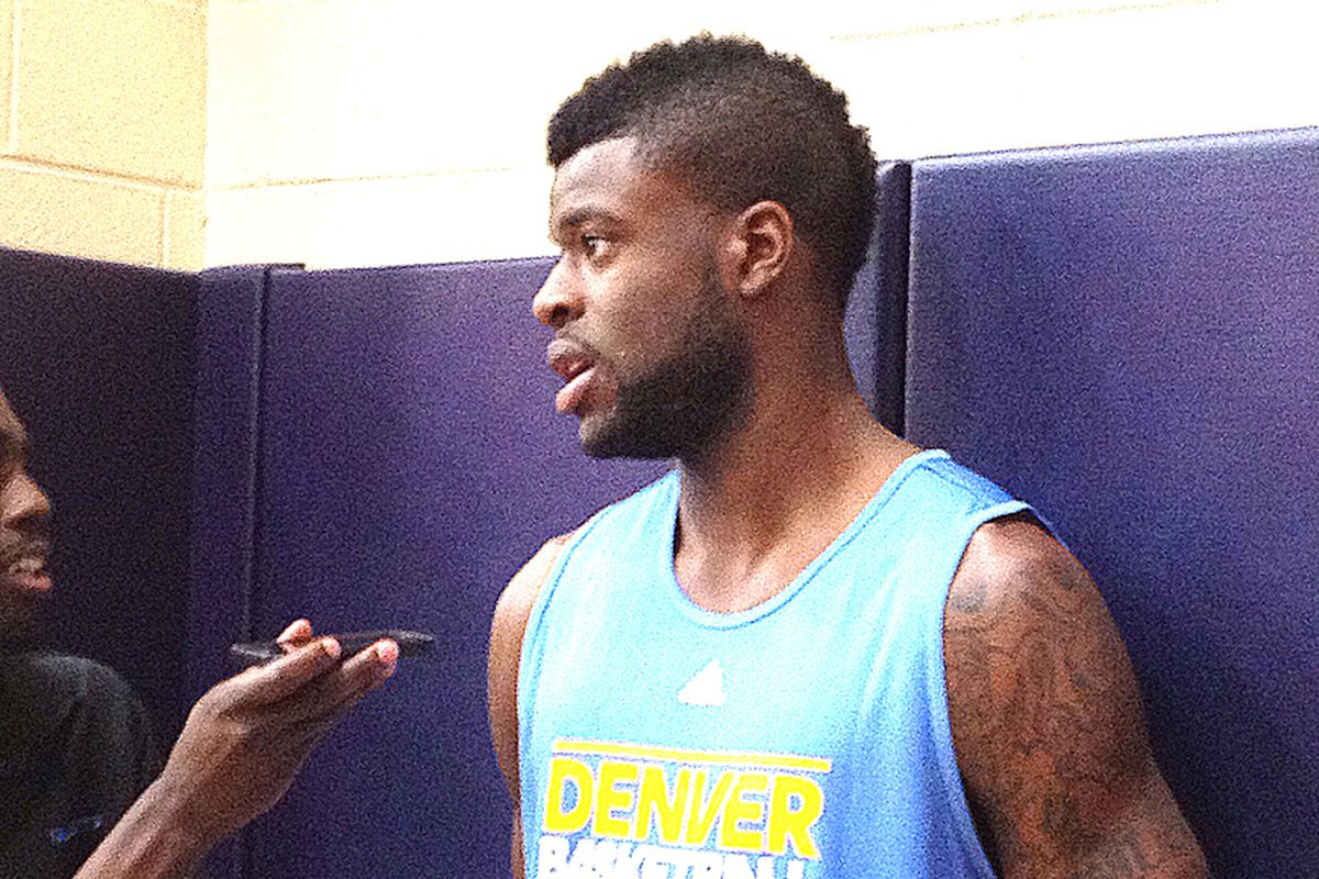 Reggie Bullock moments before his workout with the Nuggets.
