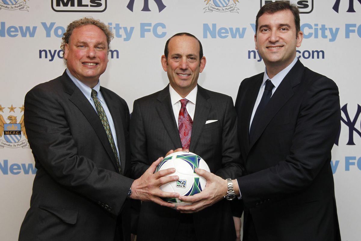 May 21 -- Major League Soccer Commissioner Don Garber announced that a partnership of global sports powers, Manchester City Football Club and the New York Yankees, has acquired the League's 20th expansion club.