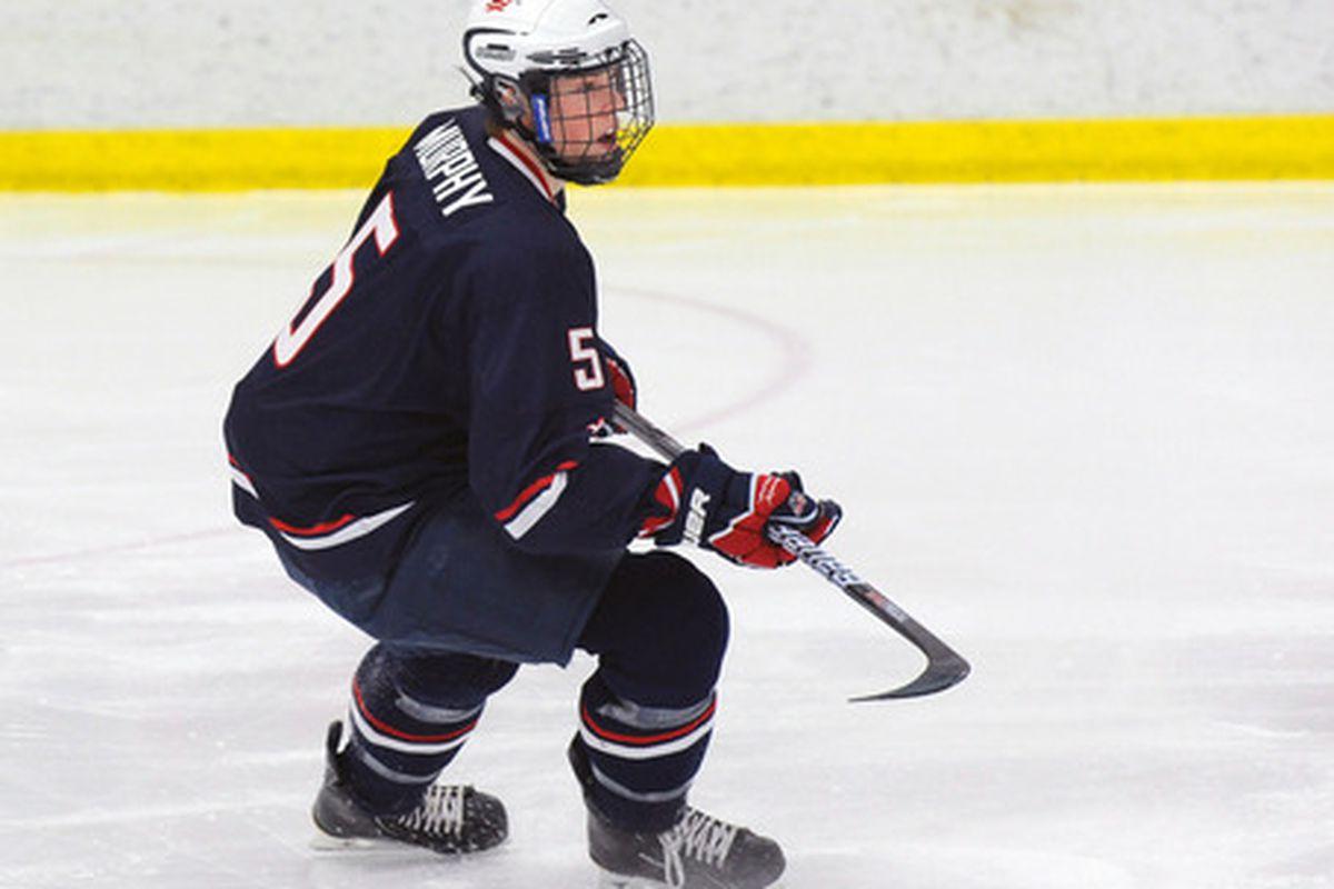 Photo by Tom Sorensen via the USA Hockey National Team Development Program.