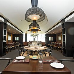 A long view of the main dining room