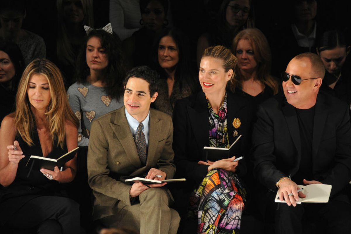 The front row at Project Runway's Fashion Week show in February. Photo via Getty.