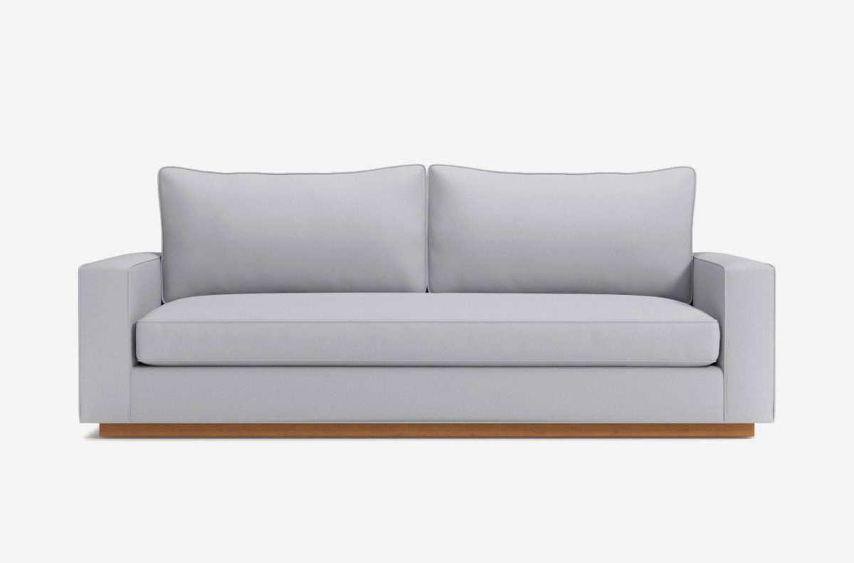 Light gray sofa.